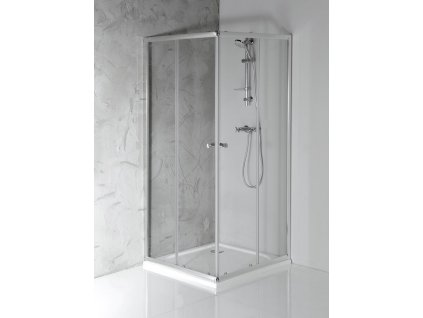 AGGA čtvercová sprchová zástěna 900x900mm, čiré sklo