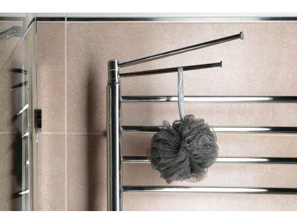 Otočný držák ručníků 250 mm, leštěná nerez