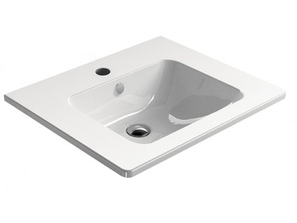 PURA keramické umyvadlo 60x50 cm, bílá ExtraGlaze