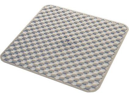 GEO podložka do sprchového koutu 53x53cm s protiskluzem, kaučuk, béžová