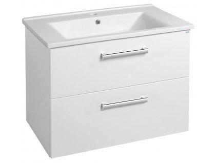 VEGA umyvadlová skříňka 72x57,6x43,8cm, 2xzásuvka, bílá