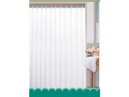 Závěs 180x200cm, 100% polyester, jednobarevný bílý