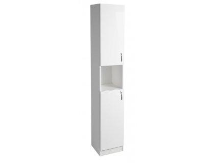 EKOSET skříňka vysoká 30x180x30cm, bílá