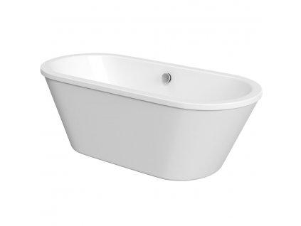 LABE volně stojící vana, 180x80x57 cm, bílá