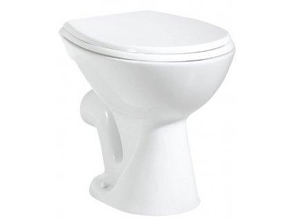 WC mísa samostatně stojící 36x47cm, zadní odpad, bílá