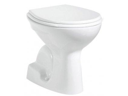 WC mísa stojící, 36x54cm, spodní odpad, bílá