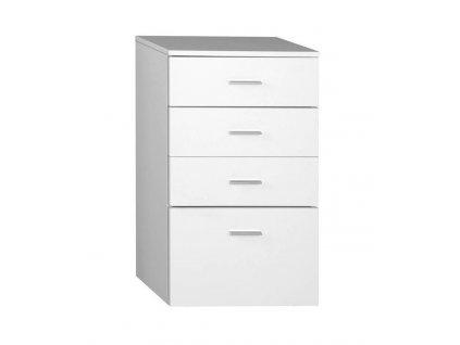 ZOJA/KERAMIA FRESH skříňka spodní 50x78x29cm, bílá, zásuvková