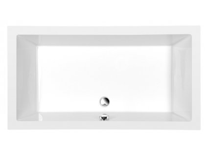 DEEP hluboká sprchová vanička, obdélník 120x90x26cm, bílá
