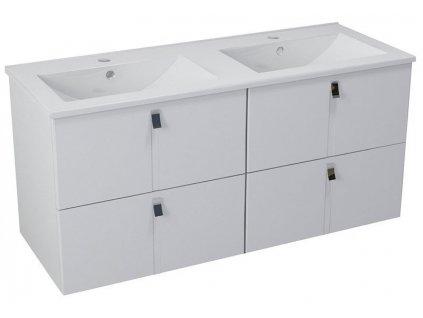 MITRA dvojumyvadlová skříňka 119,6x55x45,2 cm, bílá