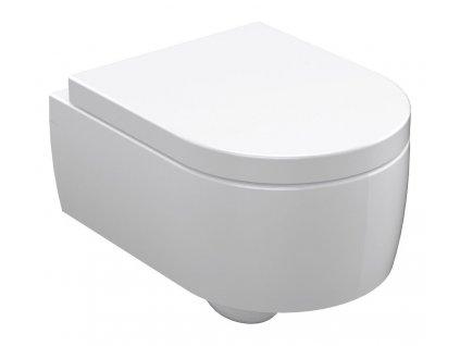 FLO závěsná WC mísa, 36x50cm, bílá