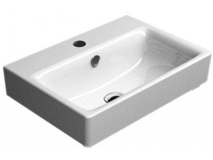 SAND keramické umyvadlo 55x40 cm, bílá ExtraGlaze