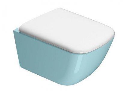 SAND WC sedátko Soft Close, bílá/chrom