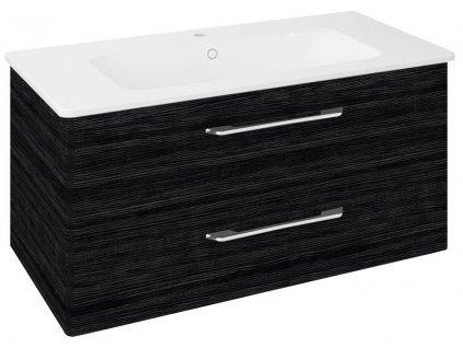 PURA umyvadlová skříňka 96,6x50,5x48,5cm, graphite line