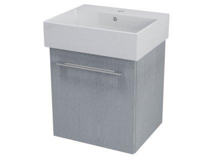 NATY umyvadlová skříňka 46,5x50x40cm, dub stříbrný