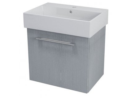NATY umyvadlová skříňka 56,5x50x40cm, dub stříbrný