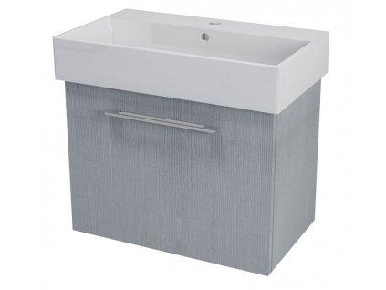 NATY umyvadlová skříňka 66,5x50x40cm,dub stříbrný