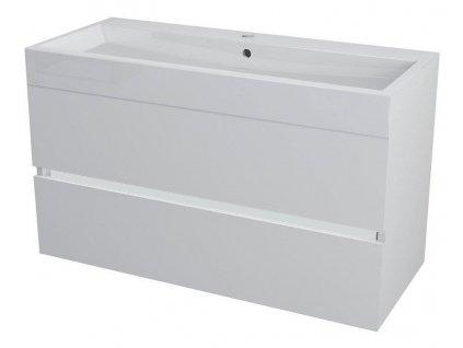LARGO umyvadlová skříňka 99x50x41cm, bílá