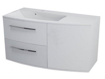 JULIE umyvadlová skříňka 105x55x46,5cm, levá, bílá
