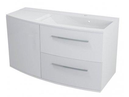JULIE umyvadlová skříňka 105x55x46,5cm, pravá, bílá