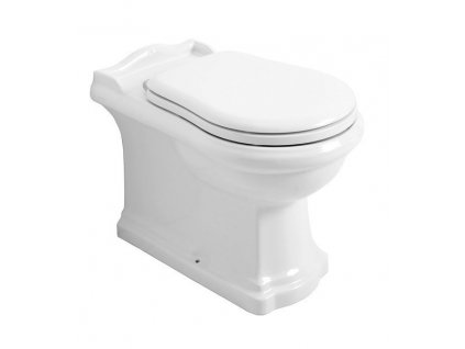 RETRO WC mísa stojící, 39x43x61cm, spodní/zadní odpad