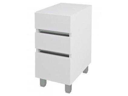 AVICE 3x zásuvka 30x70,5x48cm, bílá