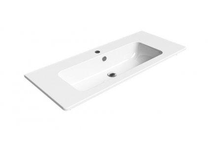 PURA keramické umyvadlo 120x50 cm, bílá ExtraGlaze
