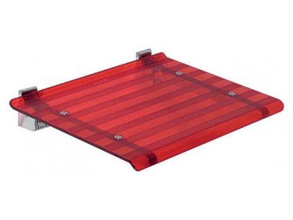 LEO sprchové sedátko 40x31cm, červená