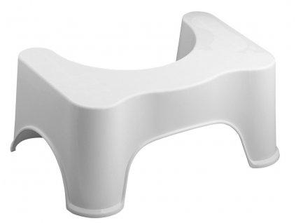 Podstavec k toaletě, 44,5x28x20 cm, bílá