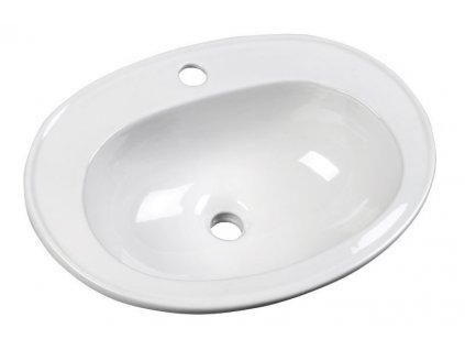 SARA keramické umyvadlo 54x41 cm, zápustné