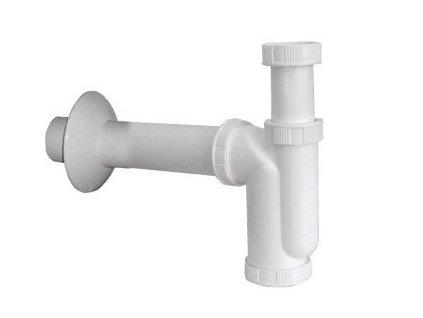 Dřezový sifon 1'1/2, odpad 50mm, bílá