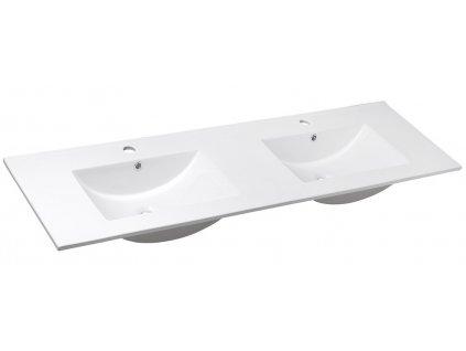 SLIM keramické dvojumyvadlo 150x46cm, nábytkové