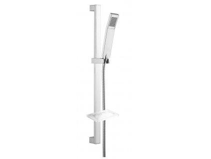 KATY sprchová souprava s mýdlenkou, posuvný držák, 680 mm, chrom