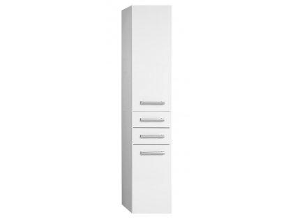 VEGA skříňka vysoká s košem, 40x184x31cm, bílá