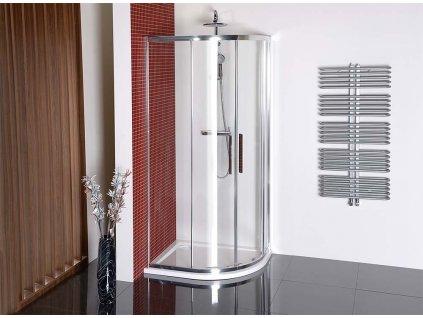 LUCIS LINE čtvrtkruhová sprchová zástěna 900x800mm, L/R