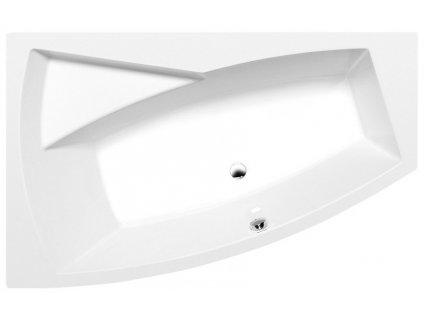 EVIA L asymetrická vana 160x100x47cm, bílá