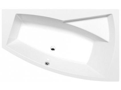 EVIA R asymetrická vana 160x100x47cm, bílá