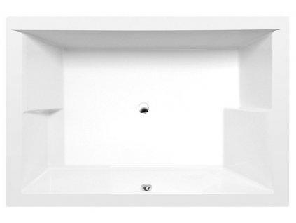 DUPLA obdélníková vana 180x120x54cm, bílá
