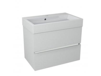 LARGO umyvadlová skříňka 69x50x41cm, bílá