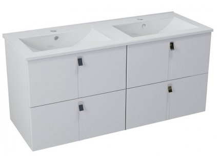 MITRA umyvadlová skříňka s umyvadlem 150x55x46 cm, bílá