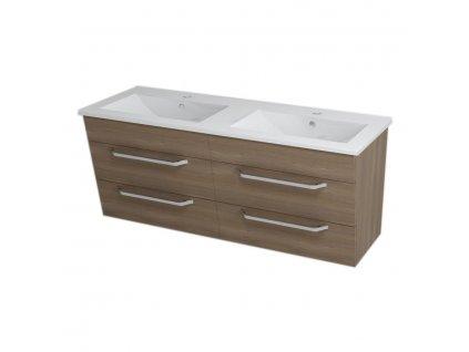 KALI umyvadlová skříňka 120x50x45cm, ořech bruno