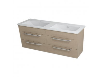 KALI umyvadlová skříňka 120x50x45cm, dub benátský