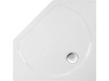 PIANO sprchová vanička akrylátová, pětiúhelník 90x90x4cm, bílá