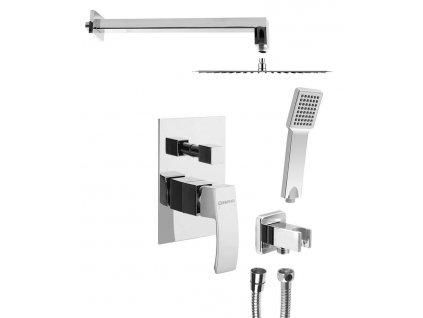 GINKO podomítkový sprchový set s pákovou baterií, 2 výstupy, chrom