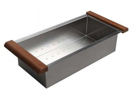 Nerezový košík ke dřezům EPIC a ZONDA, 22x44x10 cm