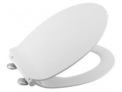 ADELE WC sedátko SLIM Soft Close, duroplast, bílá