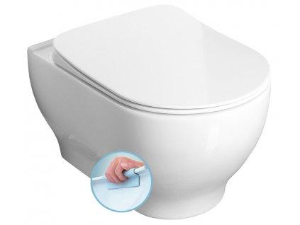 GARCIA WC mísa závěsná rimless, 36,5x52,5 cm