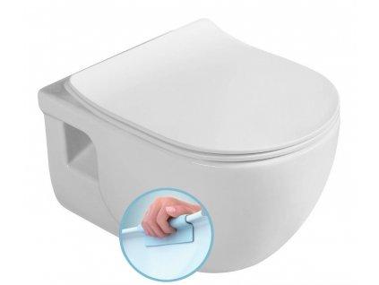 BRILLA závěsná WC mísa, Rimless, 36,5x53 cm, bílá