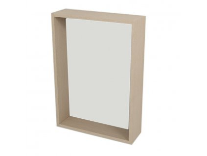 RIWA zrcadlo s LED osvětlením, 50x70x15 cm, dub benátský