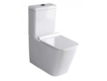 PORTO WC kombi + Soft Close sedátko, spodní/zadní odpad, bílá