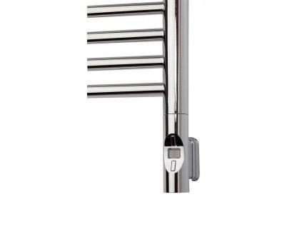 Elektrická topná tyč s termostatem a dálkovým ovládáním, 600 W, kulatá, chrom